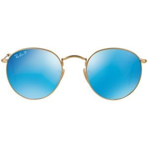 Ray-Ban BLUE Round Flash Lenses